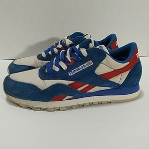 Reebok Classic Suede Men's Red, White Blue Sz.9